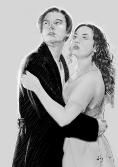 Kate Winslet, Leonardo DiCaprio by jonji
